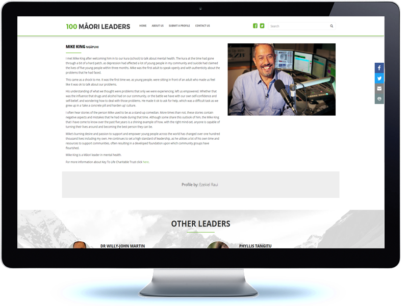 100 Māori Leaders - Koda Web Design Auckland