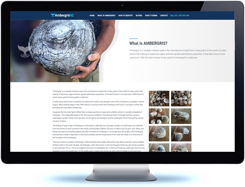 Ambergris NZ - Koda Web Design Auckland