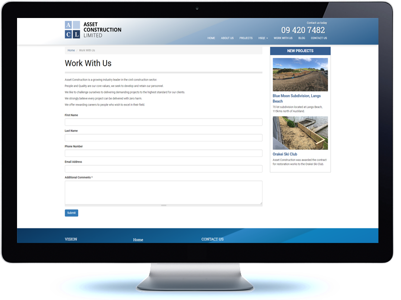 Asset Construction - Koda Web Design Auckland