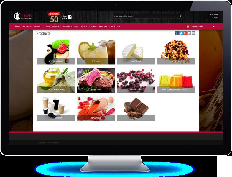 Davis Food Ingredients - Koda Web Design Auckland