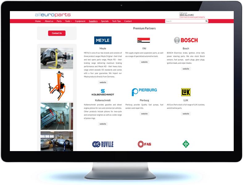 All Euro Parts - Koda Web Design Auckland
