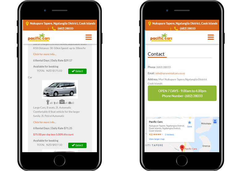 Pacific Cars - Koda Web Design Auckland