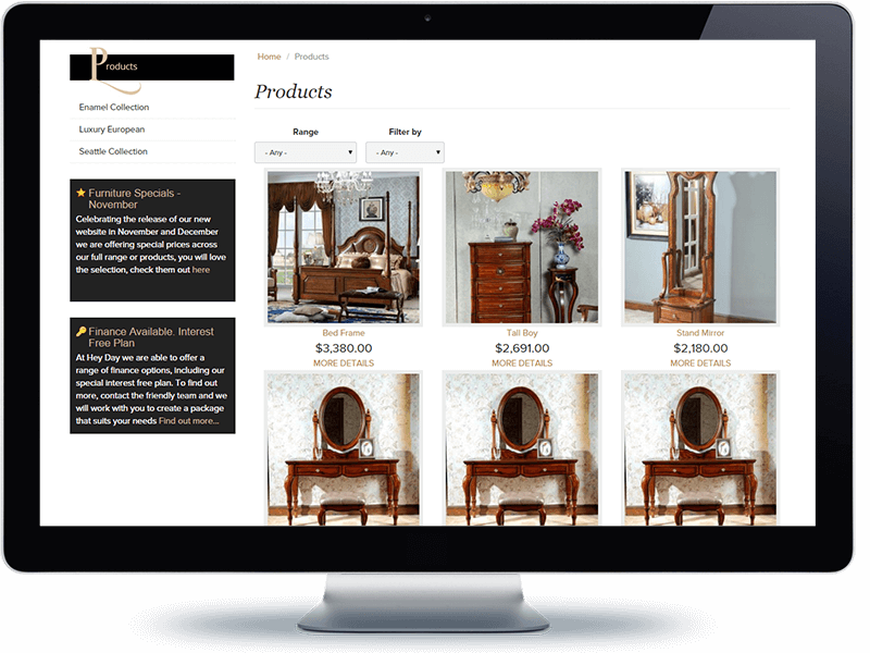 Heyday Furniture - Koda Web Design Auckland