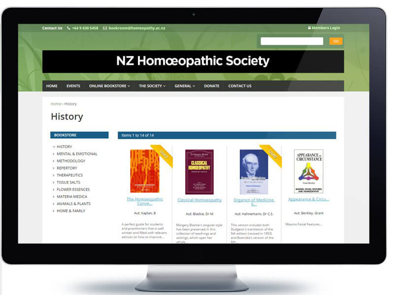 The New Zealand Homœopathic Society - Koda Web Design Auckland
