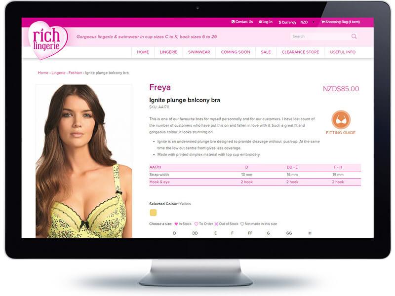Rich Lingerie - Koda Web Design Auckland