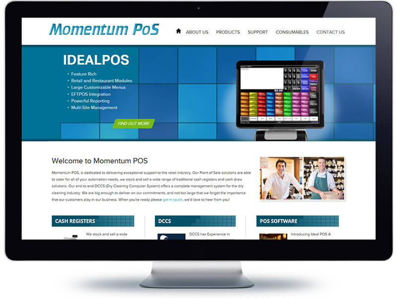 Mpos Home page - Web design and development Auckland