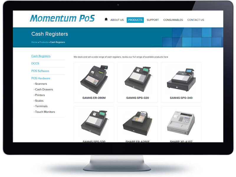Mpos category page - Web Design Auckland