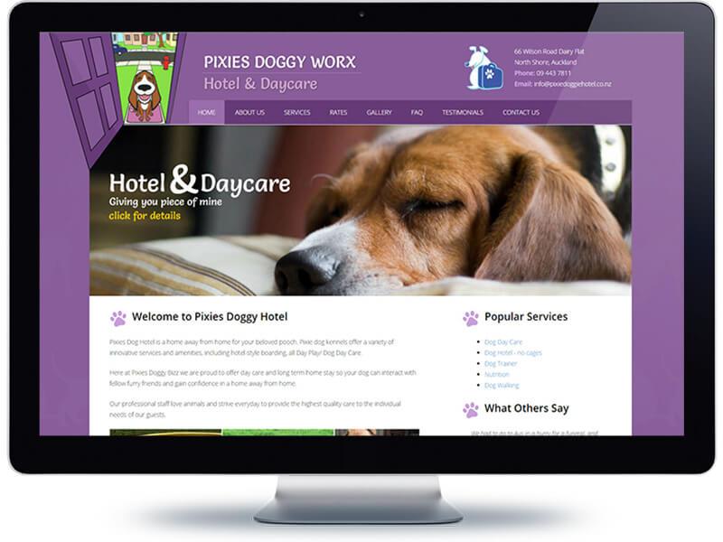 Pixies Doggie Hotel - Koda Web Design Auckland