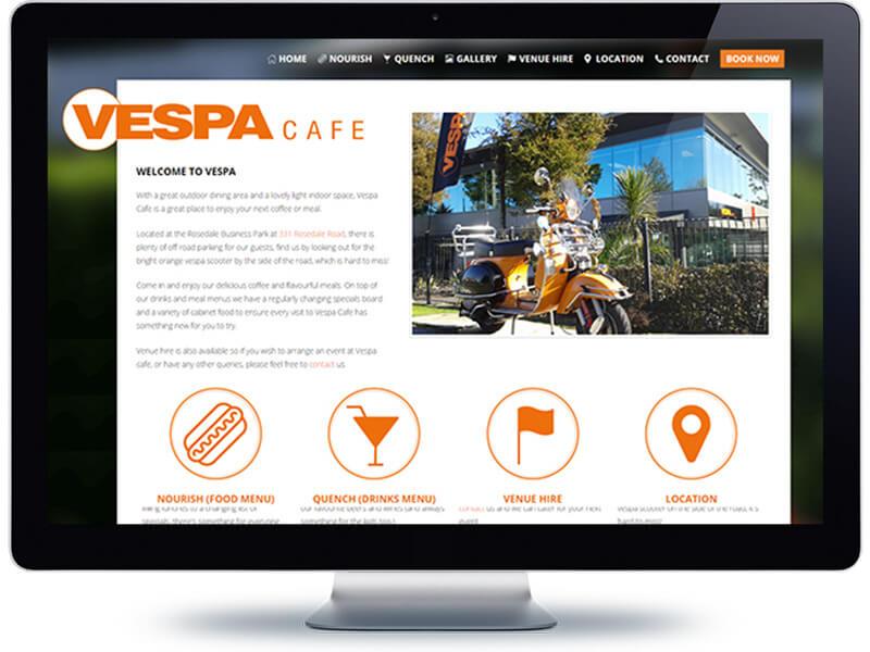 Vespa Cafe - Koda Web Design Auckland